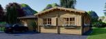 Casa de madera + Garaje BERTA 105 m² 44+44 mm visualization 6