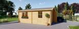 Garaje de madera doble (44 mm), 6x6 m, 36 m² visualization 6