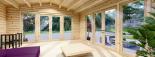Caseta de madera MIA (44 mm), 5.5x5.5 m, 30 m² visualization 8
