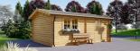 Garaje de madera 360x535 44 mm, 19.9 m² visualization 6