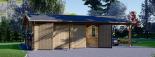 Garaje de madera double 595x595 44 mm + Cochera 300x595, 54 m² visualization 3