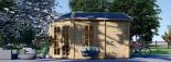 Caseta de jardín KIM 15 m² (5x3) 44 mm visualization 2