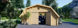 Garaje de madera TEXAS (44 mm), 6x6 m, 36 m² visualization 2