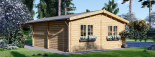Garaje de madera double 595x595 44 mm + Cochera 300x595, 54 m² visualization 6