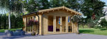 Caseta de madera MIA (44 mm), 5.5x5.5 m, 30 m² visualization 2