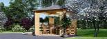 Cenador de madera 9 m² (3x3) 44 mm visualization 5