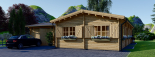 Casa de madera + Garaje BERTA 105 m² 66 mm visualization 6