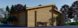 Garaje de madera DOBLE TWIN (44 mm), 8x6 m, 48 m² visualization 7