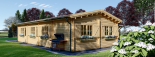 Casa de madera BERTA (66 mm), 72 m² + garaje 20 m² visualization 8