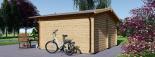 Cabaña de madera para jardín LILLE 25 m² (34 mm), 5x5 m, 25 m² visualization 4