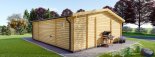 Casa de madera para jardín MILA (44 mm), 56 m² visualization 5