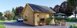 Casa de jardín ALBI (44 mm), 20 m² + porche visualization 6
