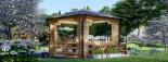 Cenador de madera 9 m² (3x3) 44 mm visualization 4