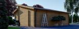 Garaje de madera DOBLE TWIN (44 mm), 8x6 m, 48 m² visualization 8