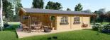 Casa de madera para vivir LINDA (44+44 mm, aislada PLUS), 78 m² visualization 3