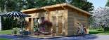 Caseta de madera MAJA (66 mm), 7.5x4 m, 30 m² visualization 4