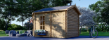 Caseta de jardín KIM 15 m² (5x3) 44 mm visualization 3
