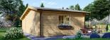 Cabaña de madera para jardín CLARA (66 mm), 28 m² visualization 4