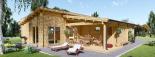 Casa de madera BERTA de tejado plano (44+44 mm), 72 m² + garaje 20 m² visualization 7