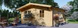 Cabaña de madera para jardín DREUX (44 mm), 5x5 m, 25 m² visualization 1