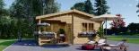 Caseta de jardín OLIVIA 36 m² (6x6) 44 mm visualization 2