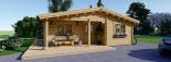 Casa de madera para vivir LINDA (44+44 mm, aislada), 78 m² visualization 8