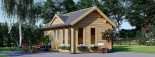 Caseta de madera CLOCKHOUSE (44 mm), 5.5x4 m, 22 m² visualization 6
