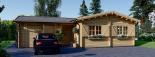Casa de madera BERTA (66 mm), 72 m² + garaje 20 m² visualization 5