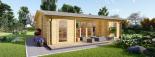 Casa de madera para jardín MILA (44 mm), 56 m² visualization 7