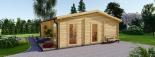 Casa de madera para jardín MILA (44 mm), 56 m² visualization 3