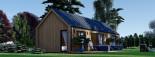 Casa de madera ADA (44 mm + revestimiento), 50 m² visualization 1