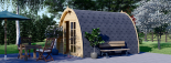 Caseta de jardin BRETA 12 m² (3x4) 28 mm visualization 6