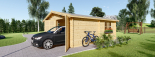 Garaje de madera doble (44 mm), 6x6 m, 36 m² visualization 5