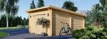 Garaje de madera MODERN de techo plano (44 mm), 4x6 m, 24 m² visualization 5