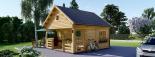 Casa de jardín ALBI (44 mm), 20 m² + porche visualization 4