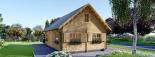 Casa de madera EMMA (66 mm), 80 m² de dos plantas visualization 2
