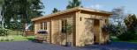Garaje de madera MODERN de techo plano (44 mm), 4x6 m, 24 m² visualization 1