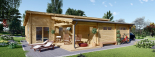 Casa de madera BERTA de tejado plano (44+44 mm), 72 m² + garaje 20 m² visualization 8