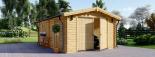 Garaje de madera (44 mm), 3.6x5.3 m, 20 m² visualization 2