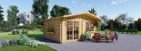 Caseta de jardín WISSOUS 12 m² (4x3) 34 mm visualization 5
