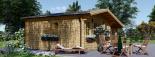 Cabaña de madera para jardín CLARA (66 mm), 28 m² visualization 5