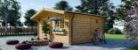 Caseta de madera NINA (44 mm), 6x6 m, 36 m² visualization 4