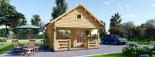 Casa de jardín ALBI (44 mm), 20 m² + porche visualization 2