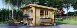 Caseta de jardin LILLE con tejado plano 12 m² (4x3) 34 mm visualization 2