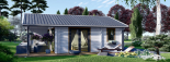 Casa de madera ADELE (44+44 mm), 68 m² visualization 3