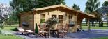 Cabaña de madera para jardín CLARA (66 mm), 28 m² visualization 6