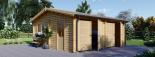 Garaje de madera DOBLE ALTERNATIVE (44 mm), 6x6 m, 36 m² visualization 2