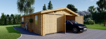 Garaje de madera 600x900 44 mm 54 m² visualization 2