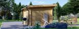 Caseta de jardín de madera MALTA (34 mm), 3x3 m, 9 m² visualization 5