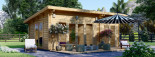 Caseta de madera MAJA (66 mm), 7.5x4 m, 30 m² visualization 1